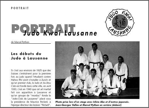 Portrait du Judo Kwai Lausanne