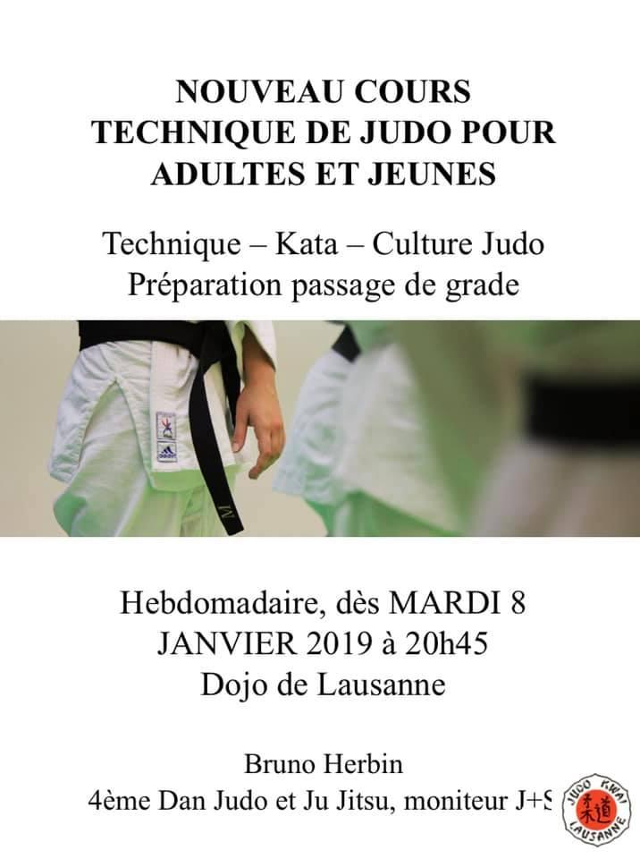 Nouveau cours technique Judo
