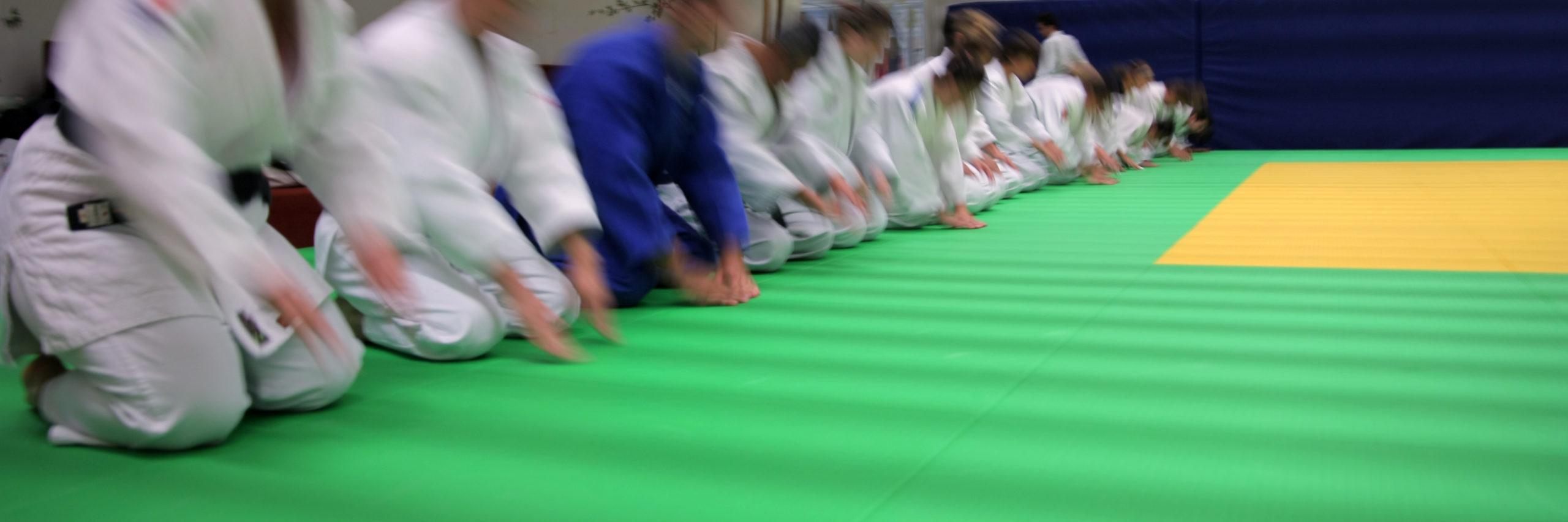 Cours de jujitsu durant les vacances d'été
