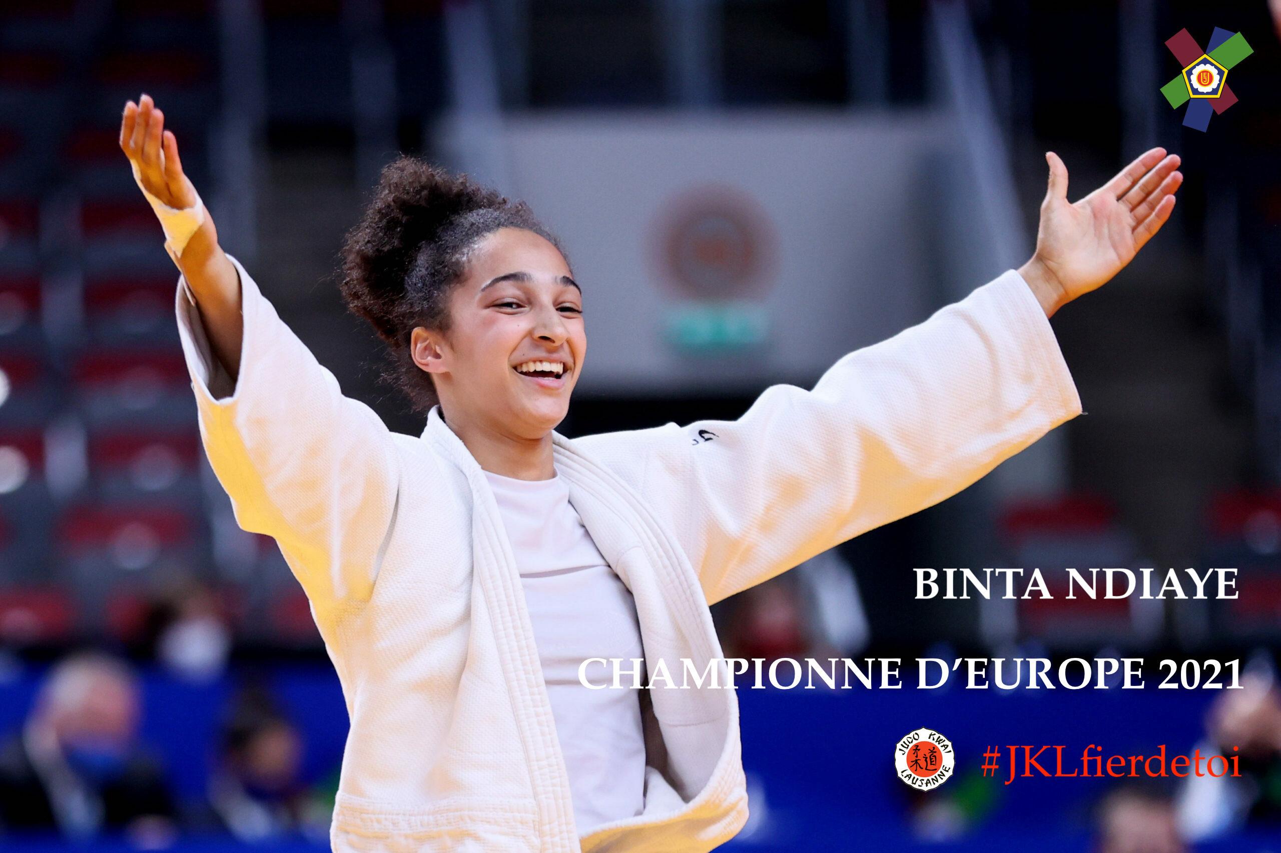 Binta Ndiaye, Championne d'Europe des moins de 18 ans!